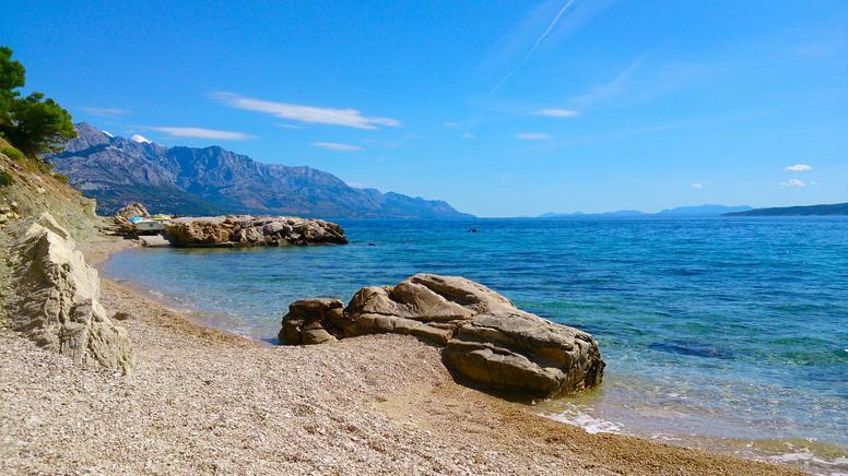 marušići, plaža, marusici beach, omiš riviera, makarska riviera, jadran, dalmacija, dalmatien